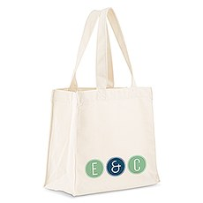 Personalized White Cotton Canvas Tote Bag- Smart Type