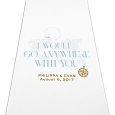 Vintage Travel Map Personalized Aisle Runner