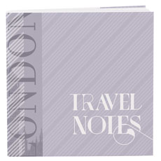 Notepad Favor with Personalized Vintage Travel Cover - Assortment