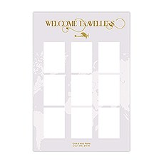 Personalised Seating Chart Kit With Vintage Travel Design