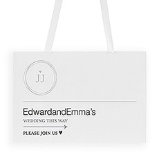 Monogram Simplicity Directional Poster - Modern