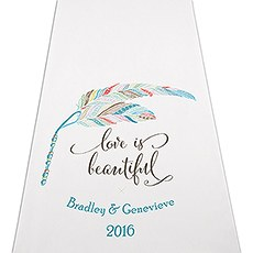 Feather Whimsy Personalized Aisle Runner