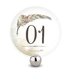 Feather Whimsy Round Table Numbers