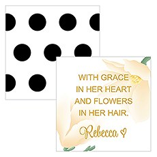 Modern Floral Square Favor Tag