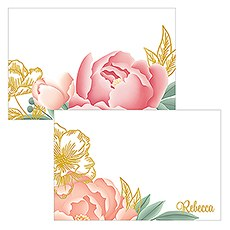 Modern Floral Flat Place Card