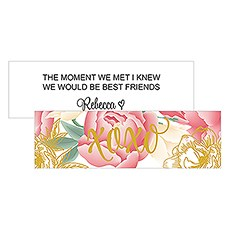 Modern Floral Rectangular Favor Tag - XOXO Print