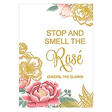 Modern Floral Large Sign Card