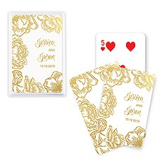 Unique Custom Playing Card Favors - Modern Floral