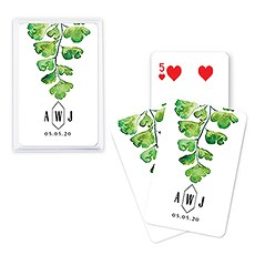 Unique Custom Playing Card Favors - Greenery