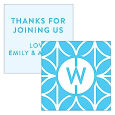 Summer Vibes Monogram Square Favor Tag