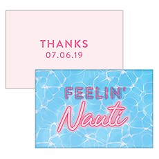 "Summer Vibes ""Feelin Nauti"" Large Rectangular Card"
