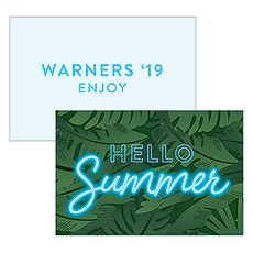 "Summer Vibes ""Hello Summer"" Large Rectangular Card"