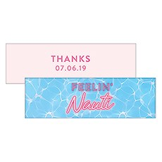 "Summer Vibes ""Feelin Nauti"" Rectangular Favor Tag"