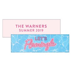 "Summer Vibes ""Let's Flamingle"" Rectangular Favor Tag"