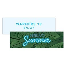 "Summer Vibes ""Hello Summer"" Rectangular Favor Tag"