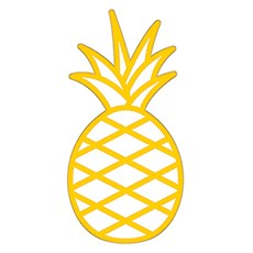 Summer Vibes Diecut Sticker - Pineapple