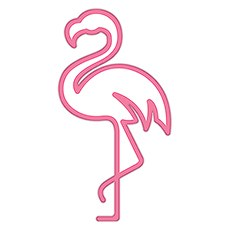Summer Vibes Diecut Sticker - Flamingo