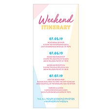 Summer Vibes Itinerary / Menu Card