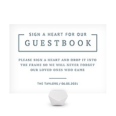Personalized Sign for Wedding Drop Box Guest Book - Rustic Love