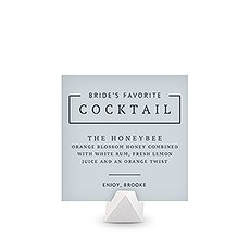 Personalized Signature Cocktail Drink Sign for Bride - Rustic Love