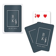 Unique Custom Playing Card Favors - Stacked Monogram