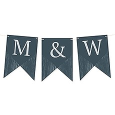 Custom Decorative Pennant Flag Party Bunting Banner - Rustic Love