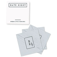 Personalized Date Night Idea Cards for Newlywed Couples - Rustic Love