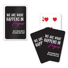 Unique Custom Playing Card Favor - What Happens in Vegas