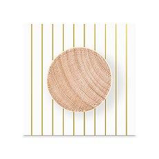 Paper Backer Card for Wooden Bottle Stopper - Gold Pinstripe