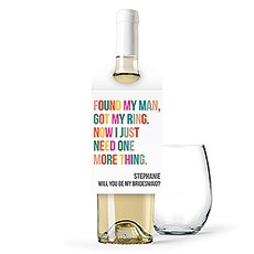 Personalized Wine Bottle Neck Hang Tags - One More Thing