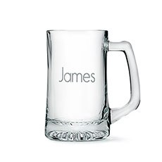 Personalized 14 Oz Glass Beer Mug – Monogram Engraving