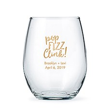 Personalized Stemless Wine Glasses - Large