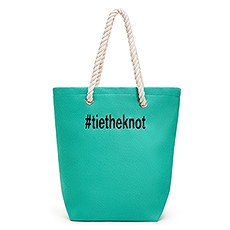 Large Personalized Cabana Nylon/Cotton Blend Beach Tote Bag- Green