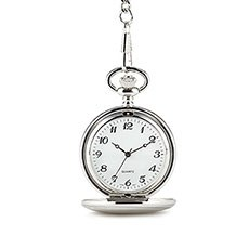 Personalized Pocket Watch and Fob - Silver