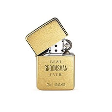Custom Classic Metal Windproof Lighter - Best Groomsman Ever Engraving