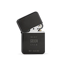Custom Classic Metal Windproof Lighter – Best Groom Ever Engraving
