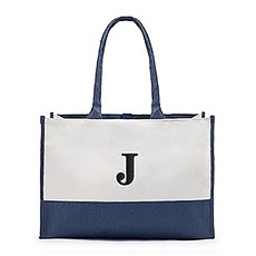 Colorblock Tote - Navy