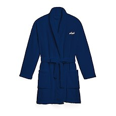 Cozy Fleece Robe - Navy