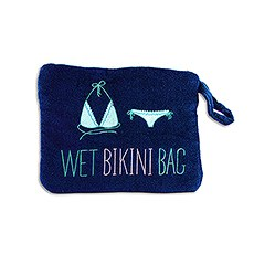Waterproof Wet Bikini and Swimsuit Bag- Navy