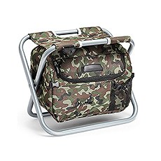 Personalized Camouflage Folding Cooler Chair – Monogram Embroidered