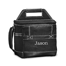 Personalized Black Insulated Cooler Bag – Monogram Embroidered