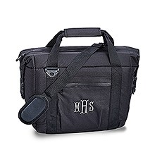 Personalized 12 Pack Black Beer Cooler Bag