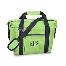 Personalized Bright Green Insulated Cooler Bag – Monogram Embroidered