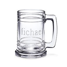 Personalized Glass Maritime Beer Mug – Monogram Engraving
