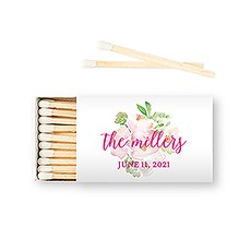 Custom Matchbox Wedding Favor - Garden Party