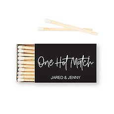 Custom Matchbox Wedding Favor - One Hot Match