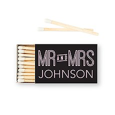 Custom Matchbox Wedding Favor - Mr and Mrs