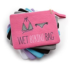 Waterproof Wet Bikini and Swimsuit Bag- Hot Pink / Fuchsia