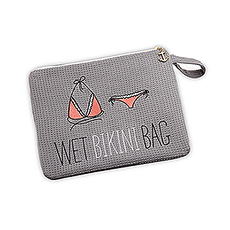 Waterproof Wet Bikini and Swimsuit Bag- Grey