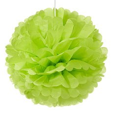 Large Paper Pom Pom - Grass Green